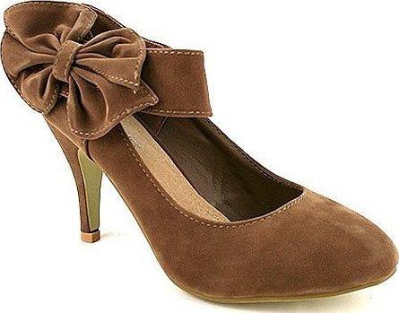 Туфли бежево коричневые на каблуке
