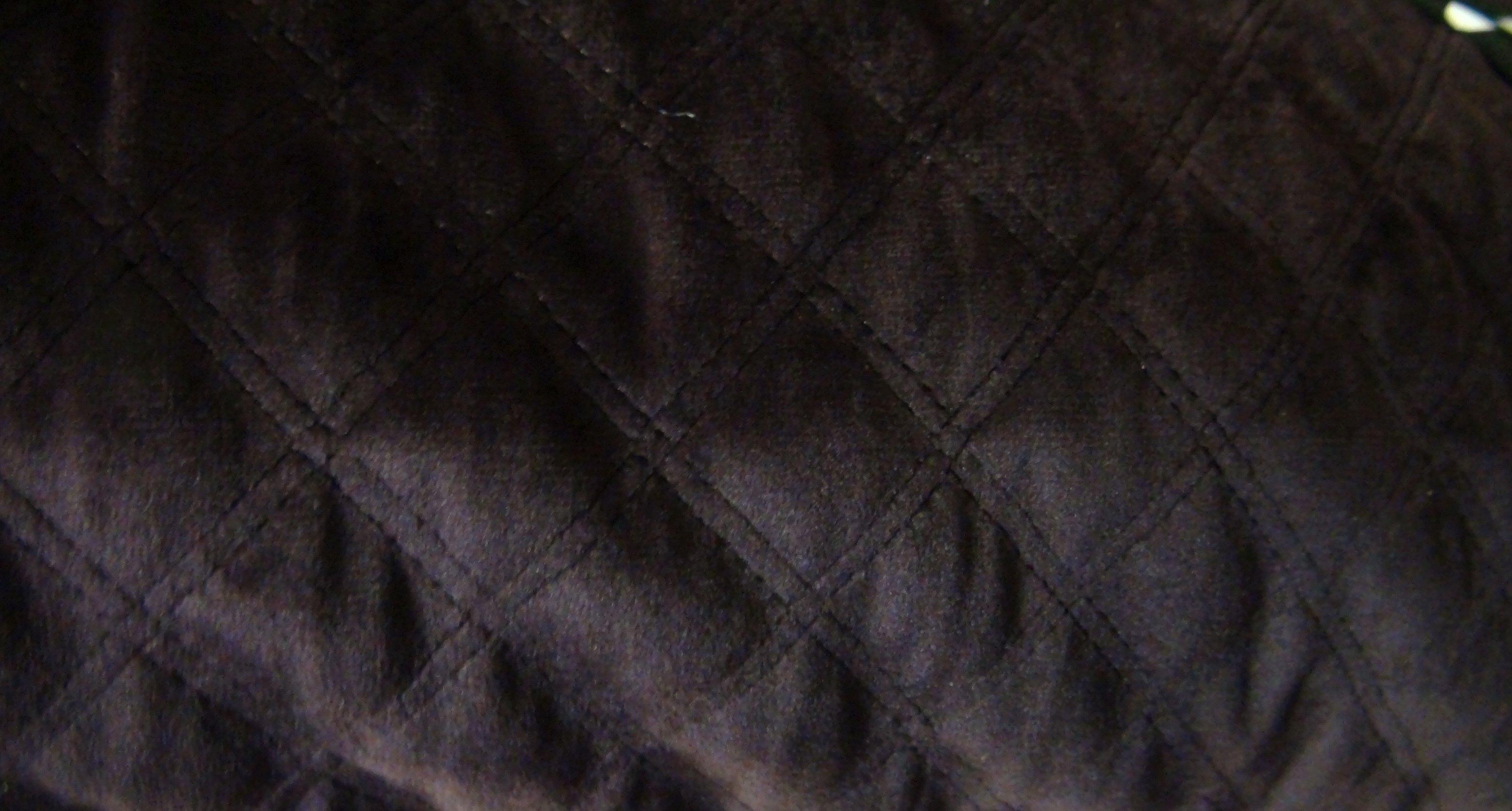 Велюр стеганный коричневый