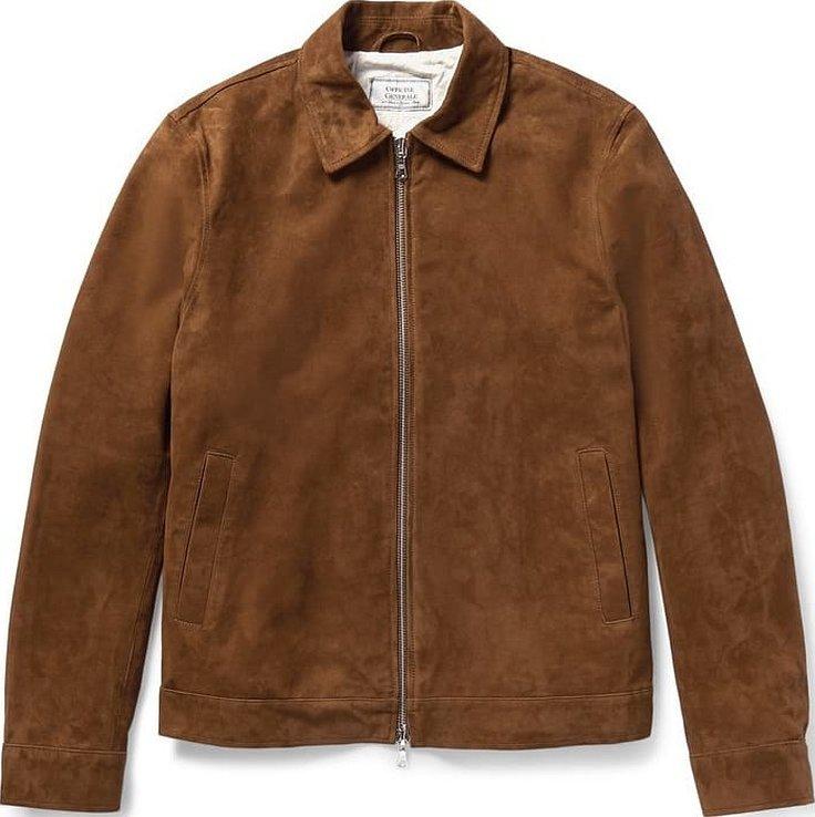 Коричневая замшевая куртка мужская