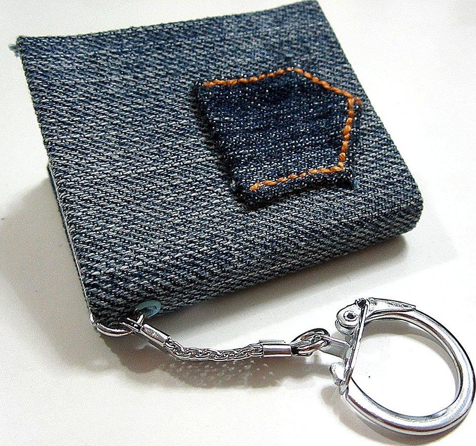 Чехол сумочка для телефона из джинс