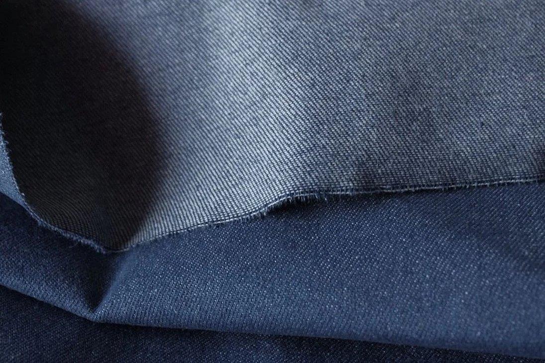 Голубая джинса ткань