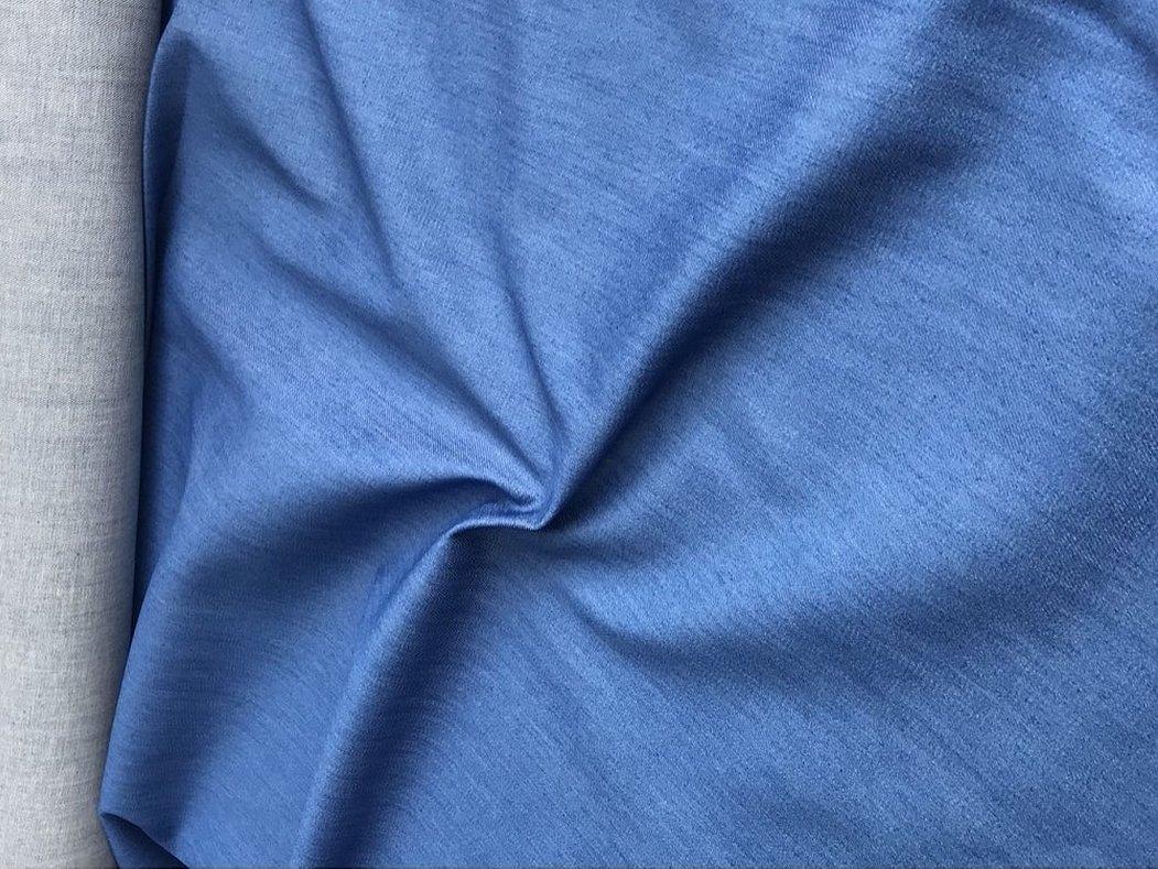 Голубой джинс ткань