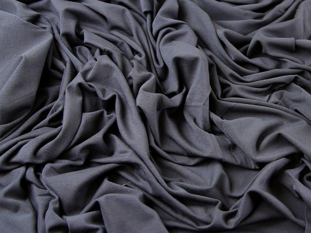 Серый трикотаж ткань