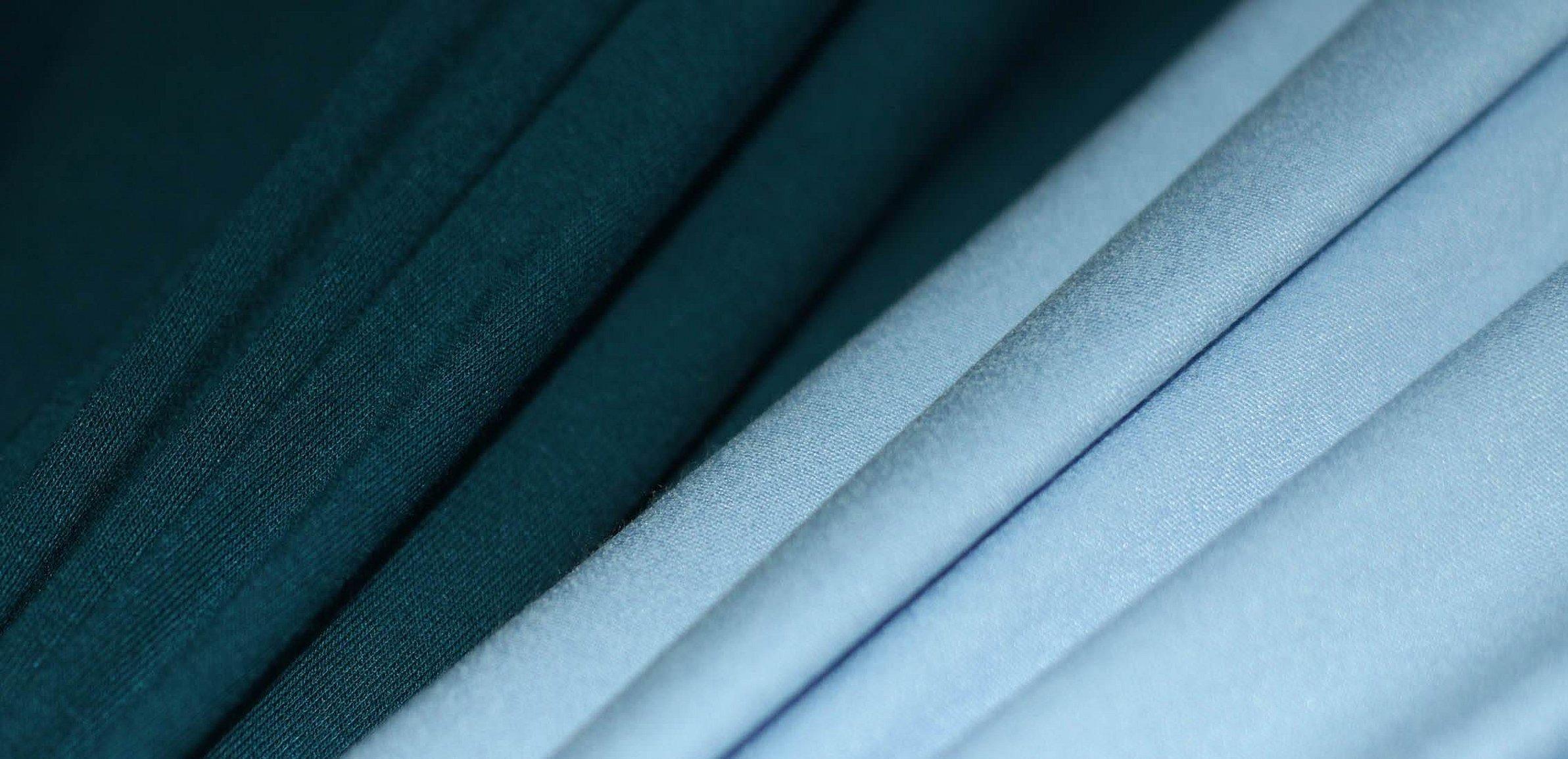 Ткань дабл фейс голубая