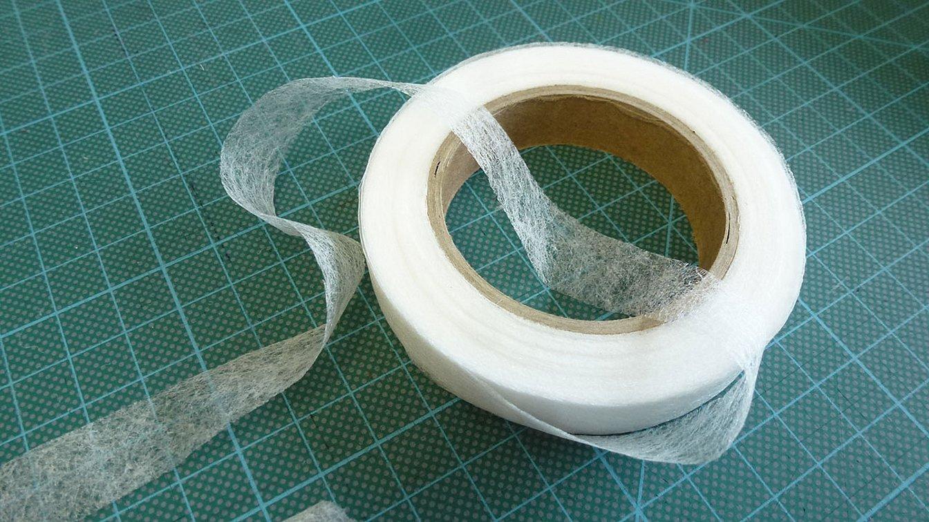 Клейкая лента паутинка для ткани