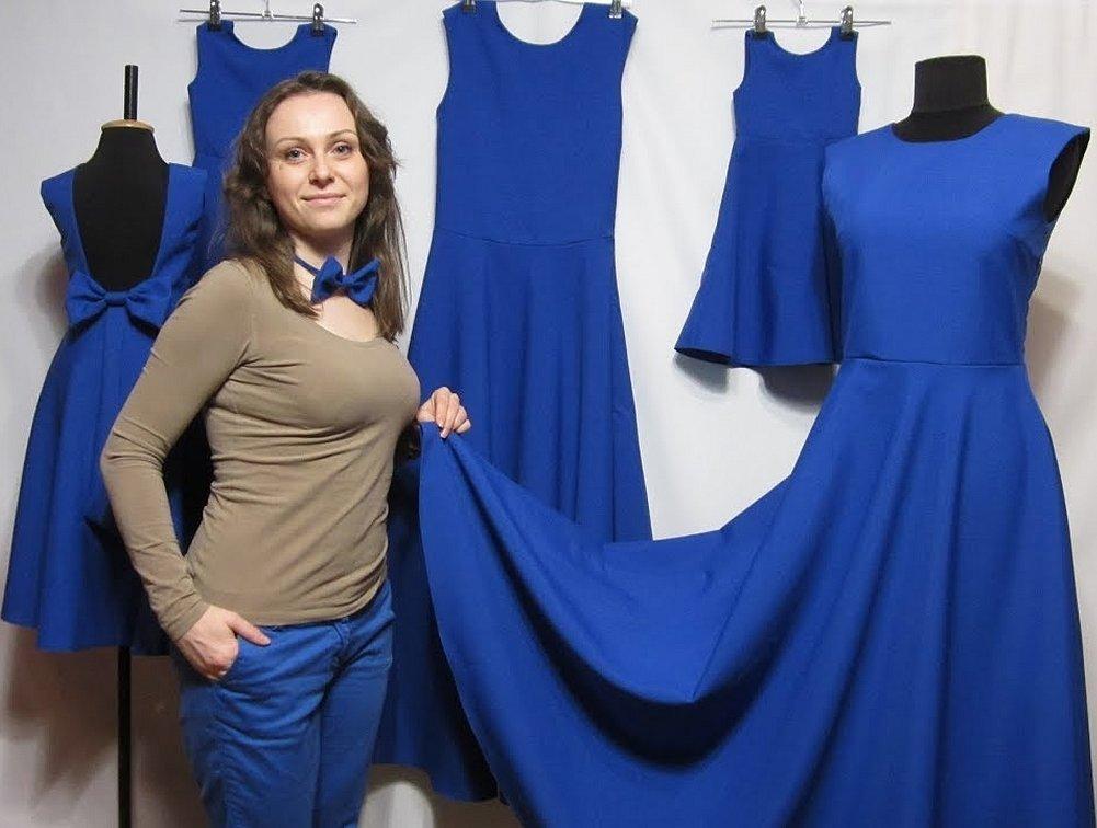 Платье в пол из габардина