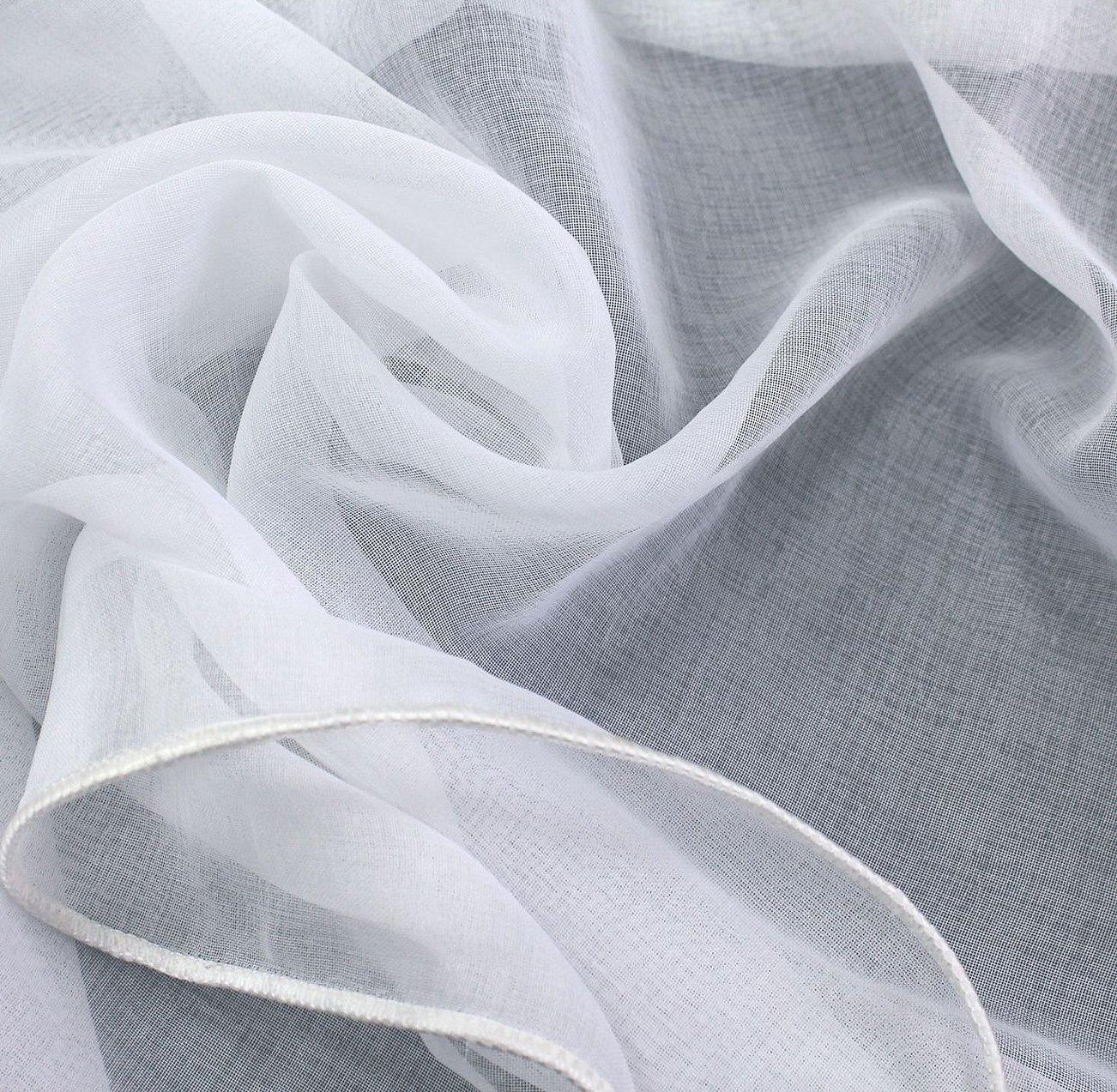 Батист белый ткань