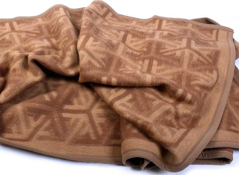 Одеяло-плед из верблюжьей шерсти