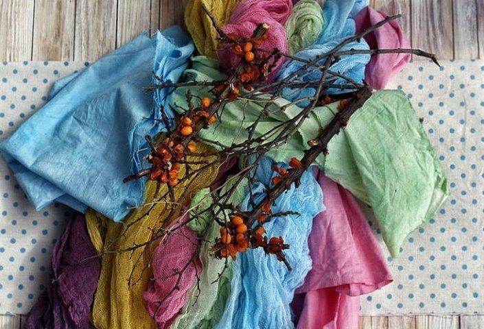 Крашение ткани натуральными красителями