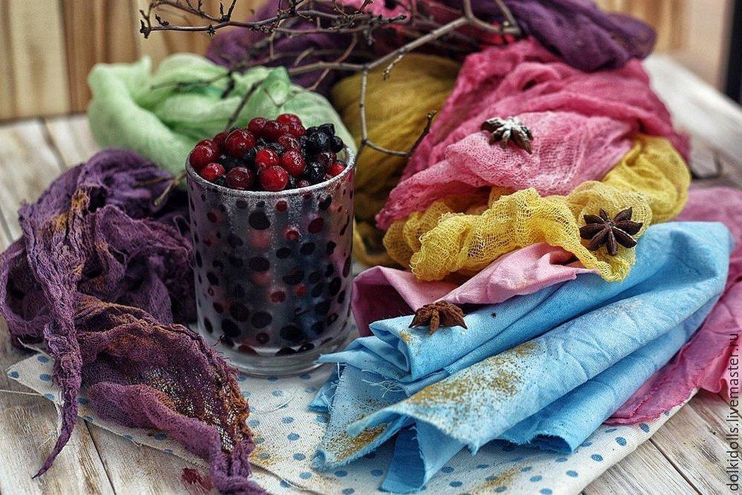 Окрашивание ткани натуральными красителями