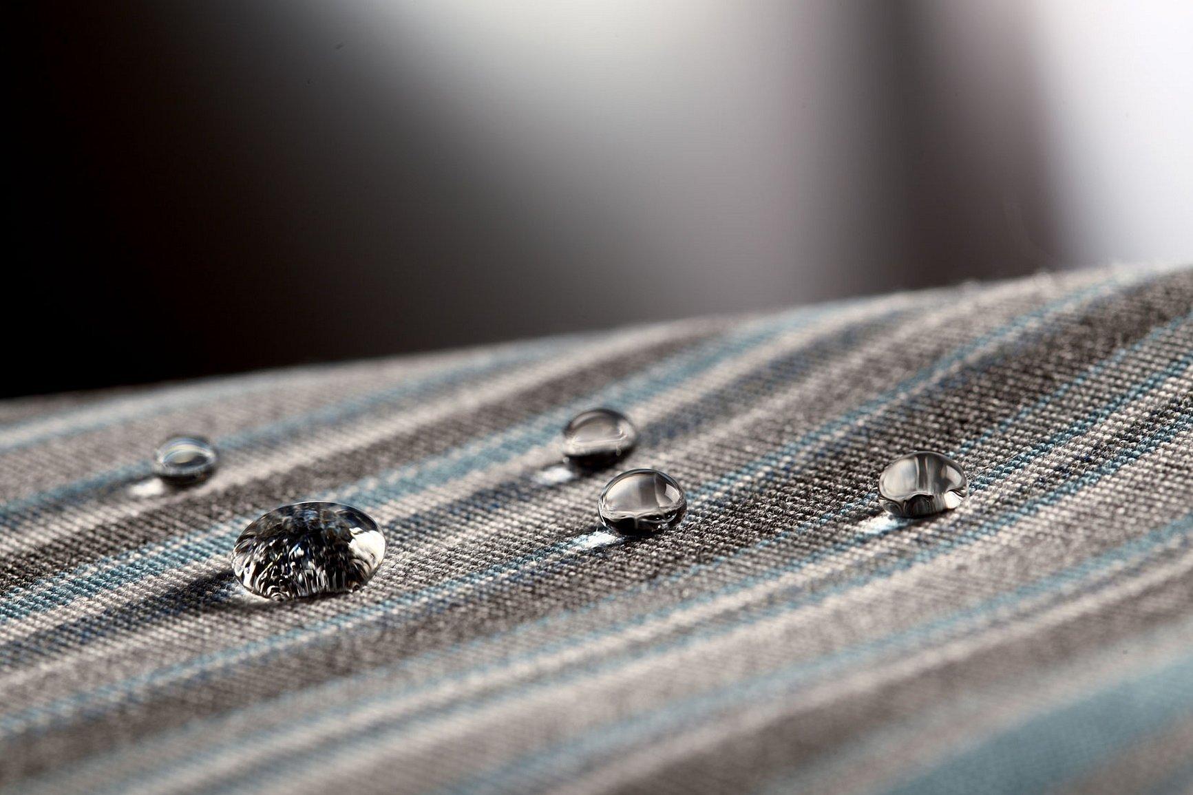 Капля воды на одежде