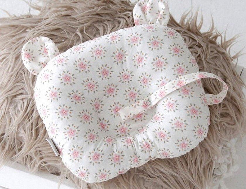 Детская подушка для новорожденных с ушками