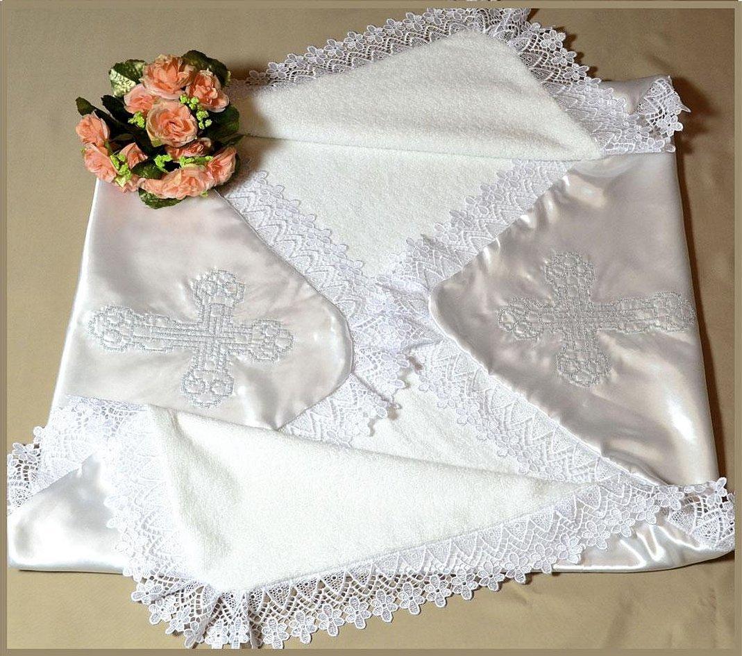 Крыжма с вышивкой для крещения