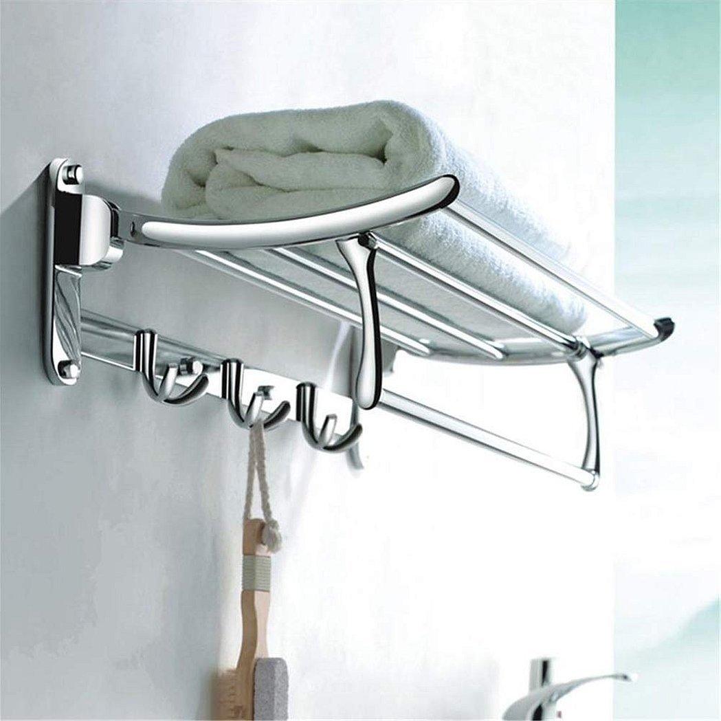 полка держатель для полотенец с крючками в ванную