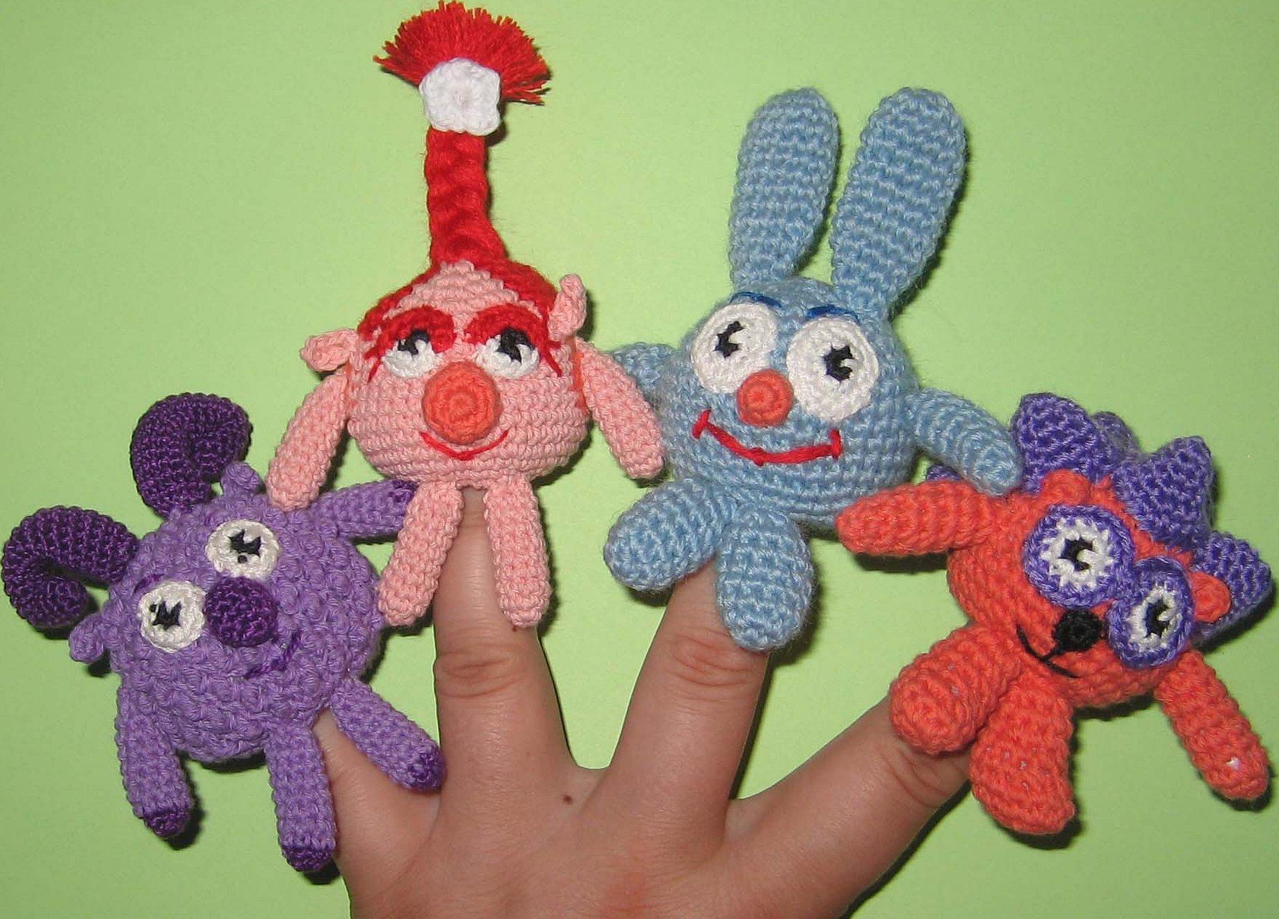 Кукольный театр смешарики вязанные крючком