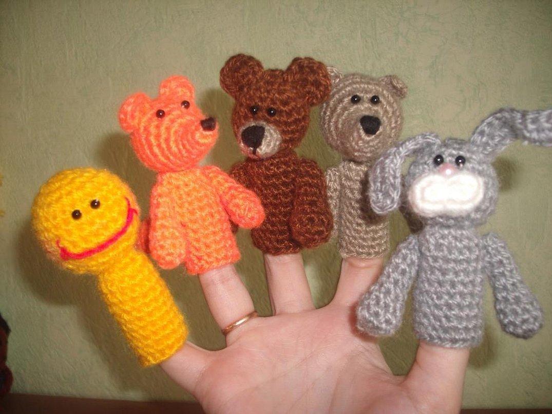 Пальчиковые игрушки крючком