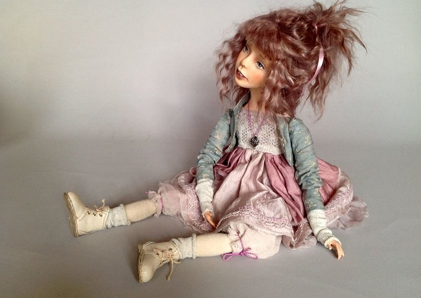 Авторская кукла из полимерной глины