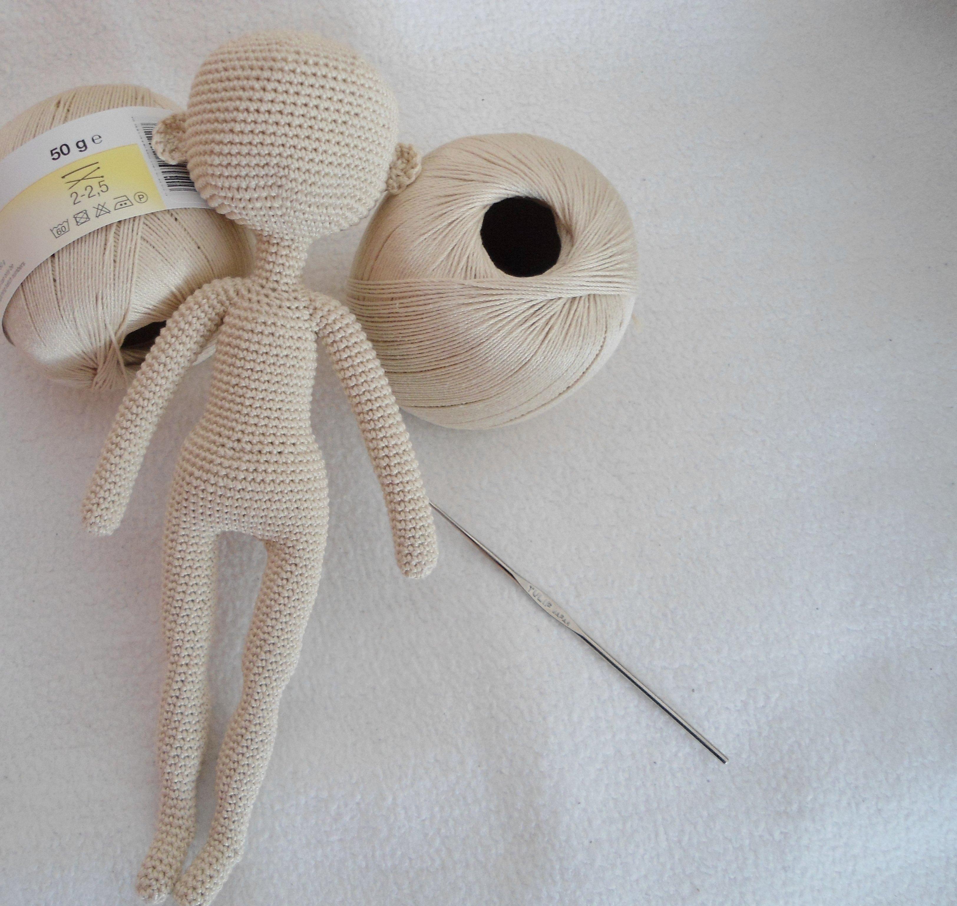 Вязаные куклы крючком шарнирная