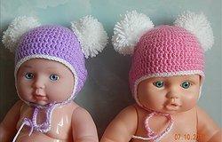 Шапочка для куклы крючком: пошаговое описание схемы вязания, варианты