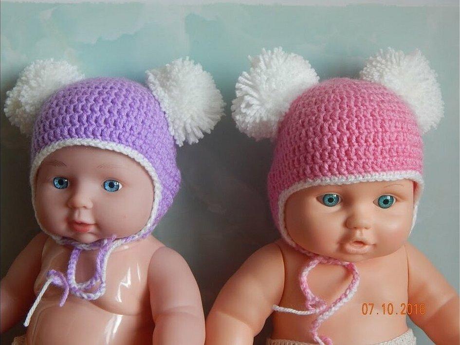 Шапки для новорожденных девочек