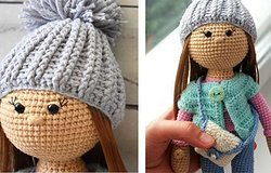 Кукла Стеша крючком: описание и подробная схема работы по вязанию куколки