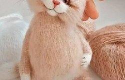 Вязаный кот спицами с описанием и схемами работы: мастер класс для начинающих