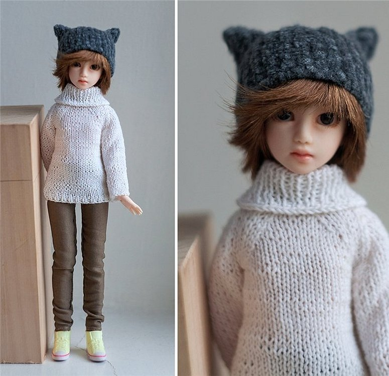 Одежда вязаная для вязаных кукол