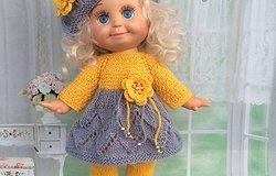 Вязаная одежда для кукол спицами: мастер-класс с полным описанием