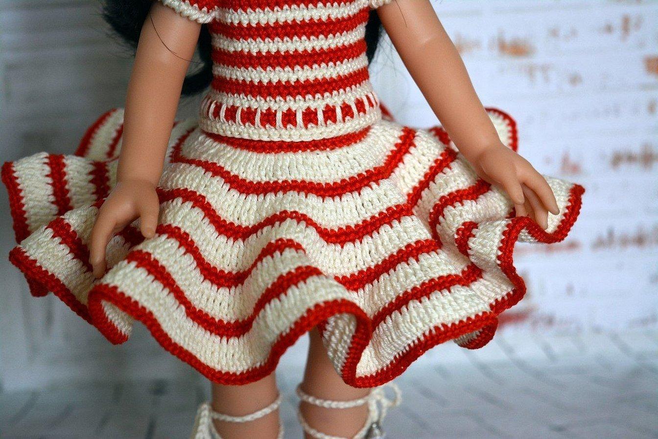 Вязание крючком одежда для кукол