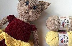 Плюшевый кот крючком: мастер-класс, схема и описание процесса пошагово