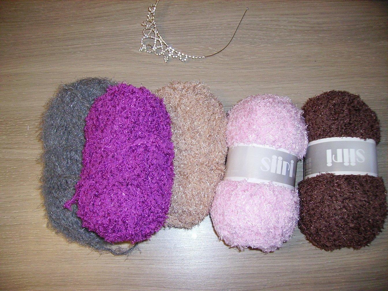 Мохнатые нитки для вязания