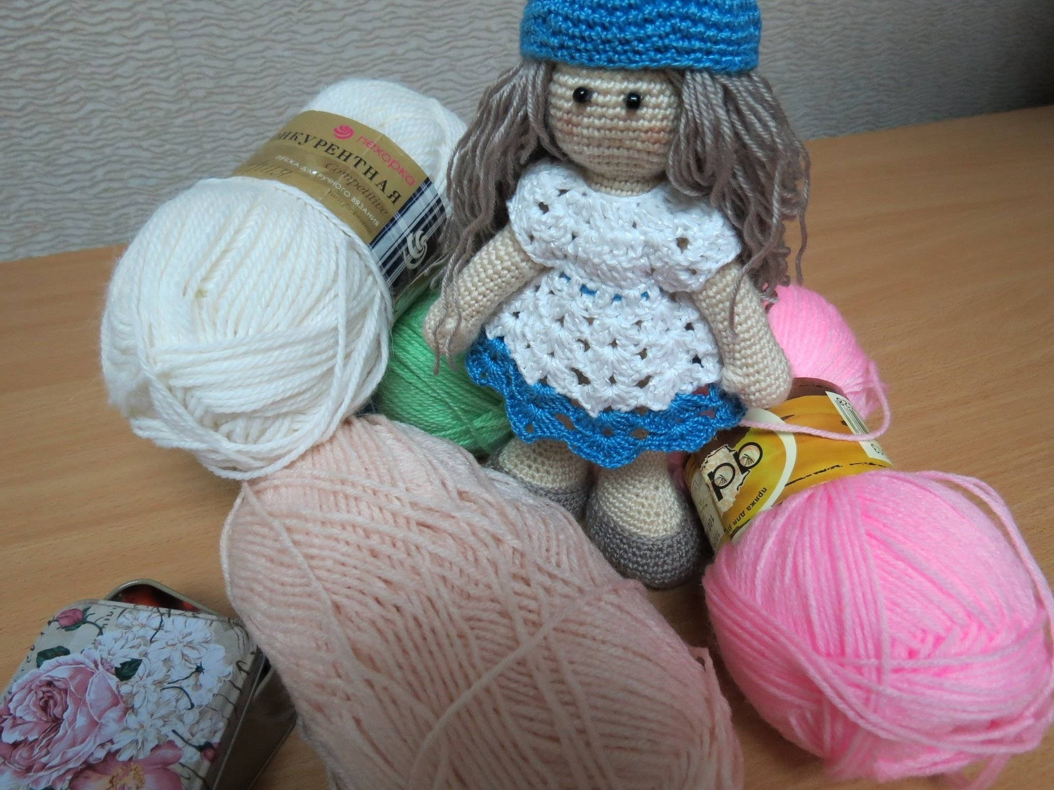 Пряжа для вязания кукол амигуруми
