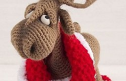 Как связать оленя крючком: описание схемы вязания новогодней игрушки