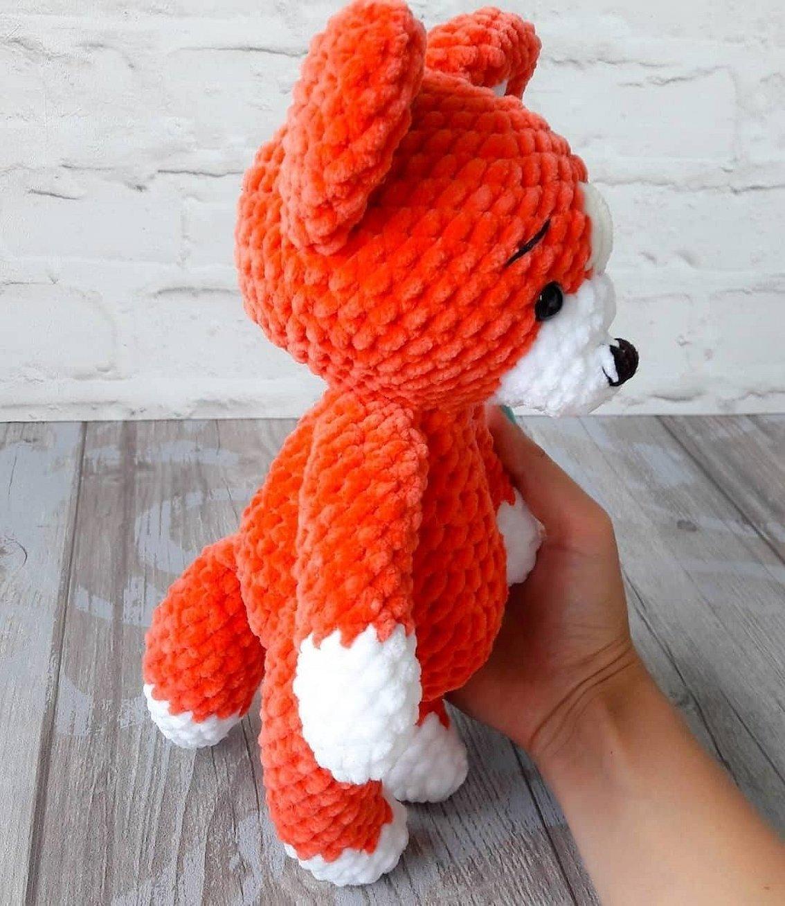Схема вязаная игрушка лисичка