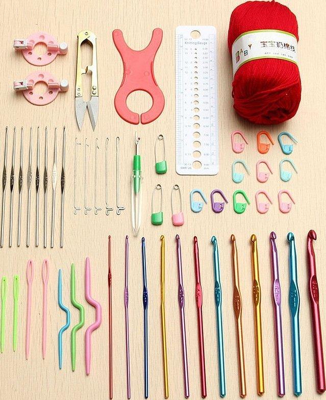 Наборы для вязания крючком и спицами