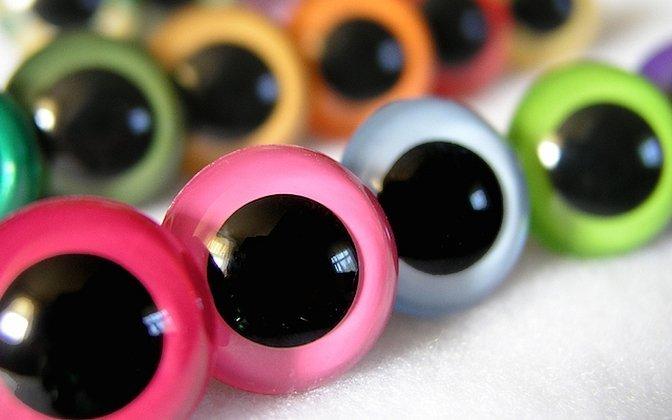Глазки для игрушек кошачий глаз