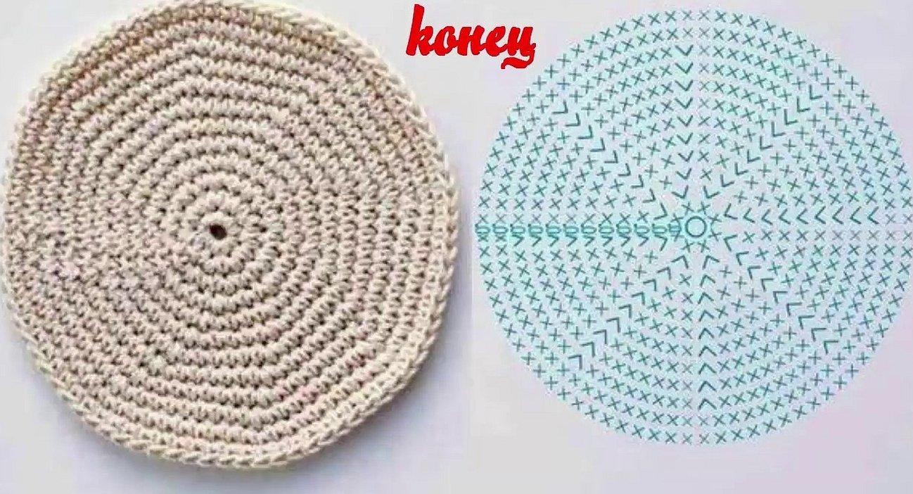 Схема круга крючком столбиками без накида
