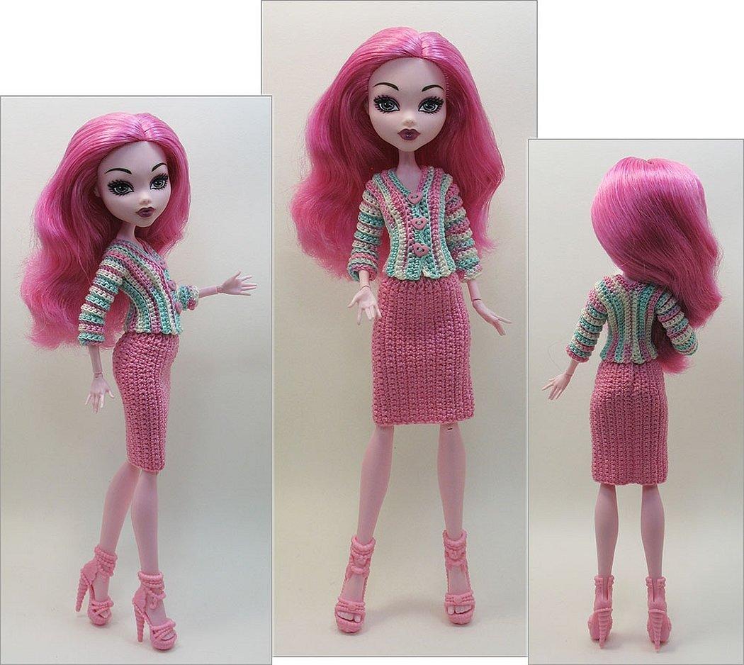 Вязаная одежда для кукол монстер хай крючком
