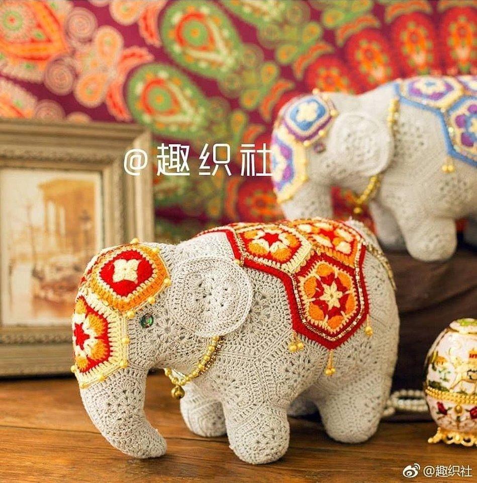 Индийский слон из африканских мотивов схема