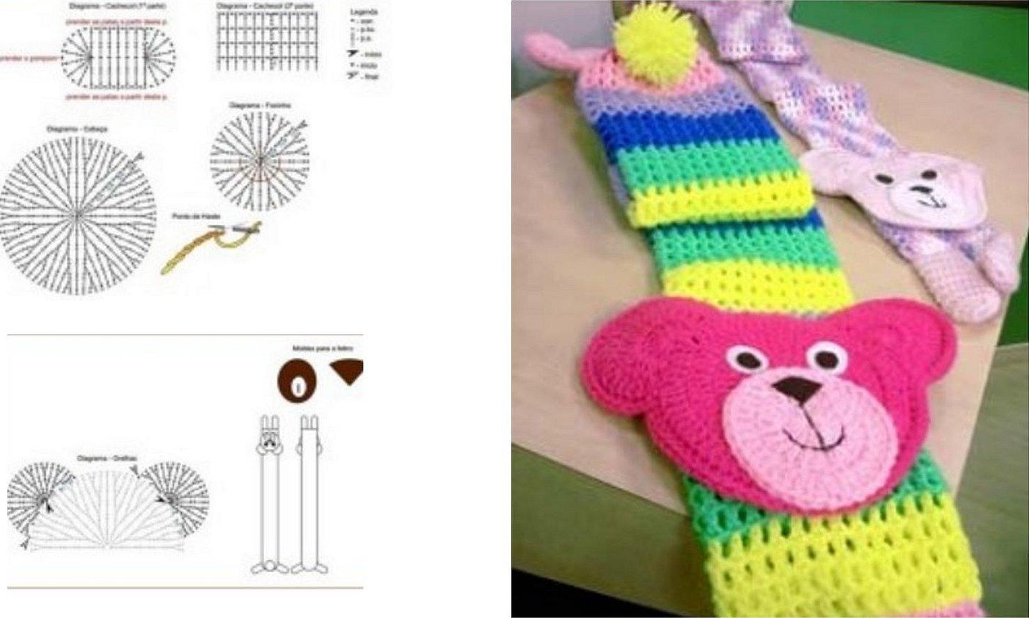 Детский шарфик крючком схема