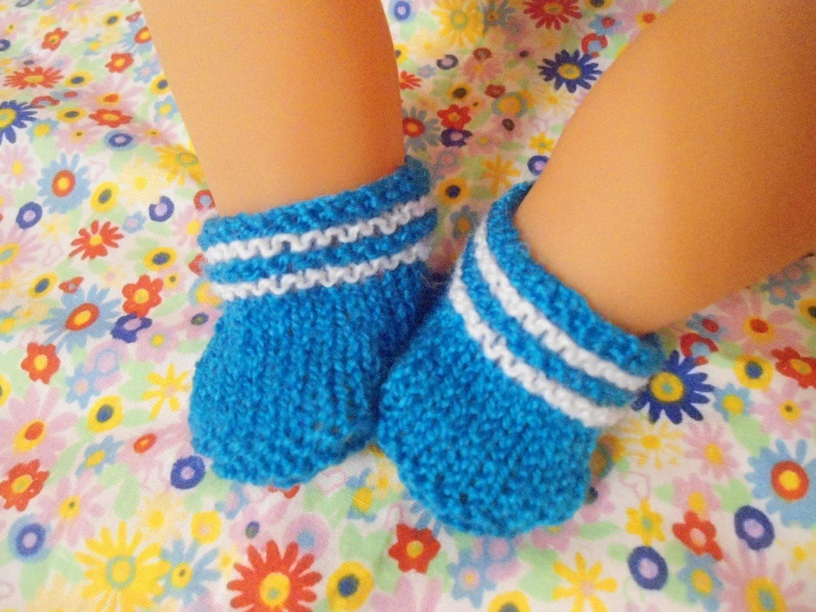 Носки для куклы беби бон крючком